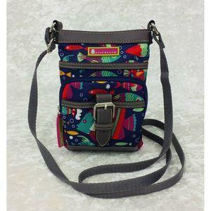 Lily Bloom Mini Crossbody Bag Purse Fish Print